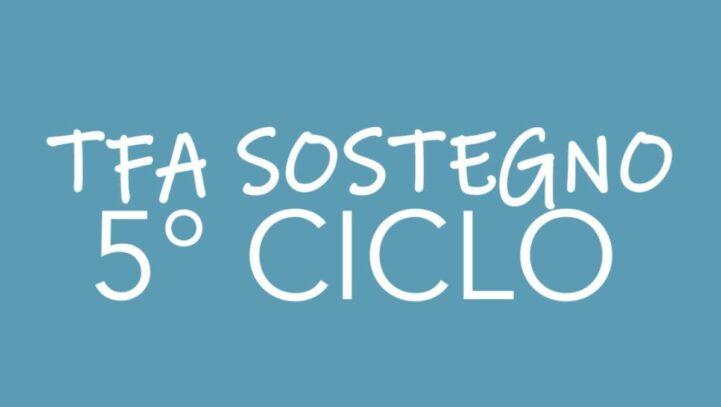 TFA SOSTEGNO V CICLO-  ECCO COME ADERIRE AL RICORSO