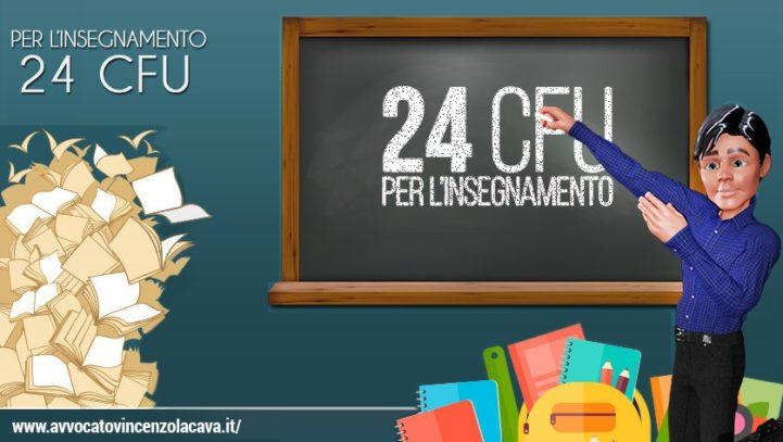 LAUREA+24 CFU SONO TITOLO ABILITANTE: INSERITO IN 1^ FASCIA GPS