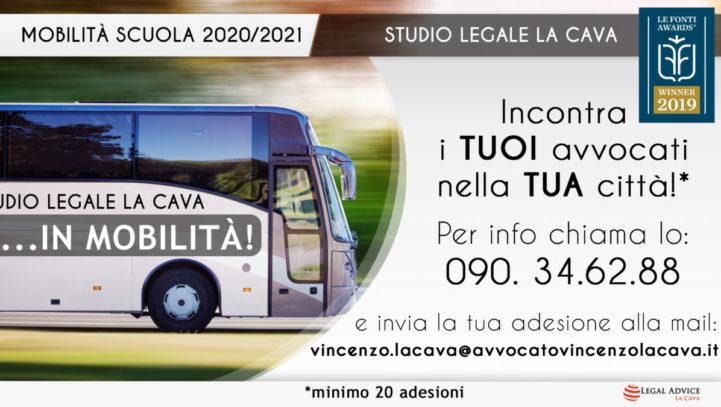 "MOBILITA' 2020/2021 E VADEMECUM: INIZIA LA NOSTRA CAMPAGNA ""IN MOBILITA'.."""