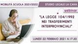 2^WEBINAR: L.104/1992 COME FAR VALERE IL DIRITTO DI PRECEDENZA