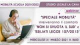 WEBINAR: Speciale Mobilità Scuola 21/22 31 Marzo 2021
