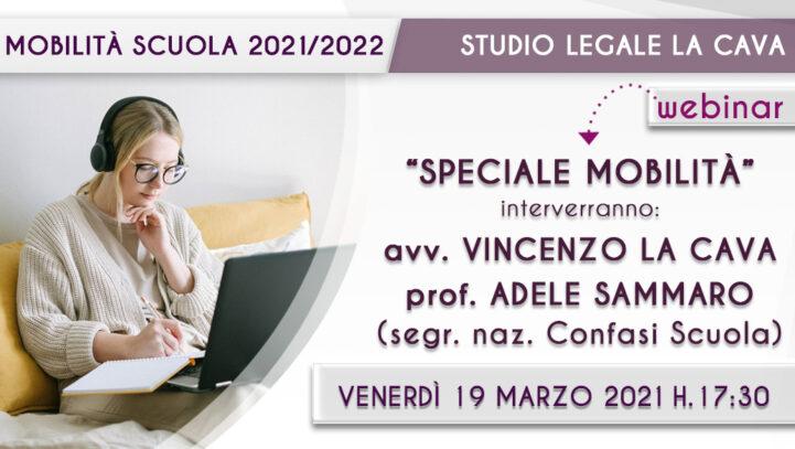 WEBINAR: Speciale Mobilità Scuola 21/22