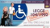 TRASFERITA DOCENTE PER ASSISTERE MADRE EX L.104/92