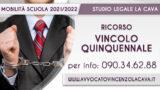 RICORSO VINCOLO QUINQUENNALE: Proroga termini al 9 maggio 2021