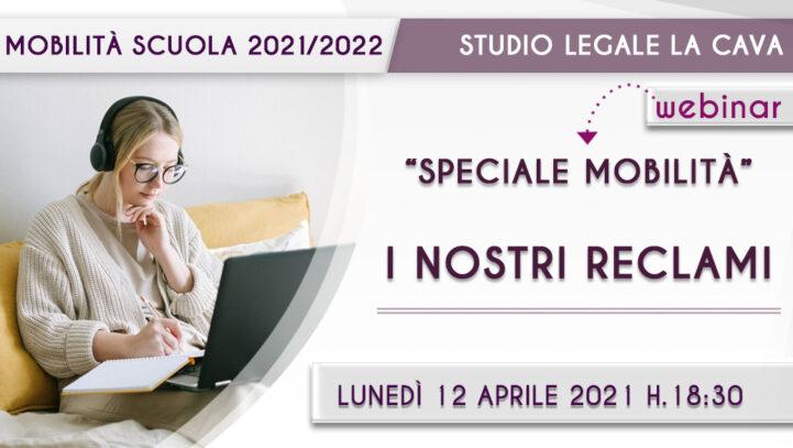 MOBILITÀ DOCENTI 2021/2022. Webinar 12 aprile 2021 ore 18.30