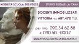STORICA VITTORIA: TRIBUNALE VERONA APPLICA ART 470 T.U. E TRASFERISCE DOCENTE